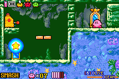 Kirby & the Amazing Mirror - Level (6) Olive Ocean - Aw, but I can